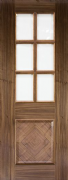 Deanta Pre-Finished Walnut Kensington Clear Glazed Door